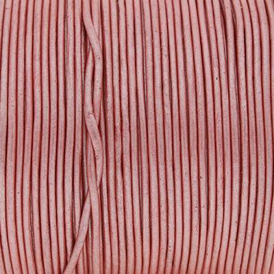 Rundriemen, Lederschnur, 100cm, 1mm, METALLIC WILD ROSE