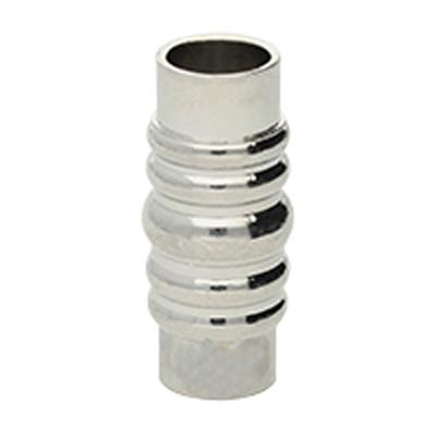 Magnetverschluss, 5,5mm, 21x9mm, Metall, silberfarben
