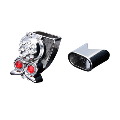 Armbandhaken-Verschluss, 19x12mm, Metall, silberfarben, Kappe 13x13mm, innen 10x5mm